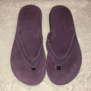 Kai Kai Montauk Purple suede sandals